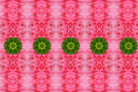 regency: Green flower on pink background.Idea and create  from flower and leaf Stock Photo