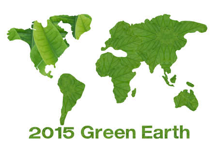 Idea from leaf.Green earth concept