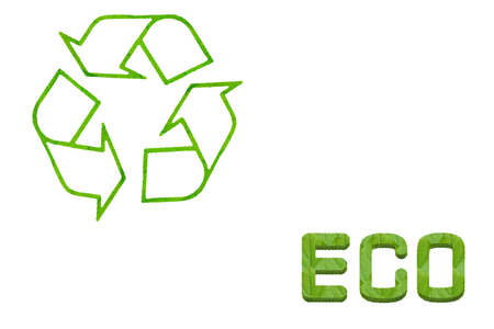 recyclable waste: Idea icon from leaf Stock Photo