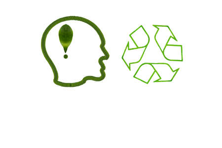 Idea icon from leaf Stock Photo