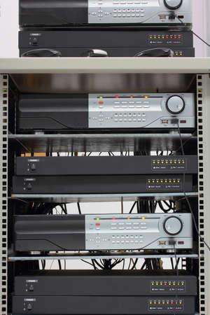 corbel: Digital Video Recorder in a rack. Stock Photo