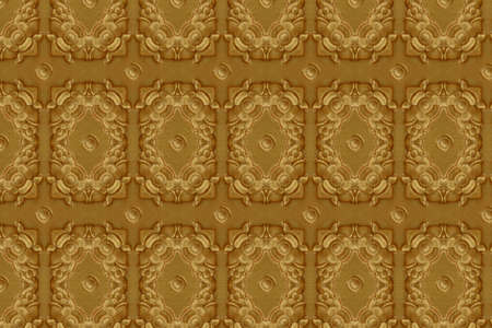 Cement gold Crafts wall Stock Photo
