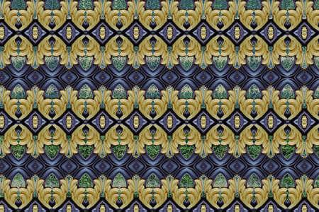 metallic: Pattern on metallic gate close
