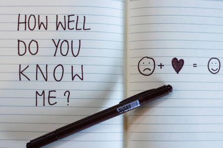 How well do you me? Foto de archivo