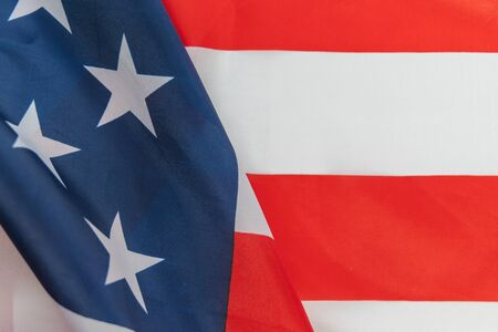 Beautifully waving star and striped American flag Banco de Imagens