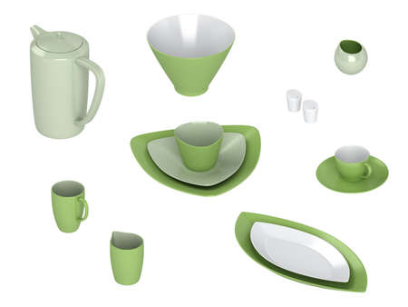 Rendered 3d isolated ware other objects photo