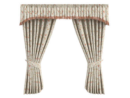 Rendered 3d isolated curtains