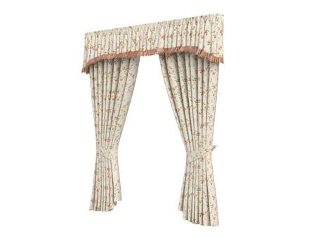 magnificence: Rendered 3d isolated curtains