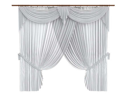 curtain window: Rendered 3d isolated curtains