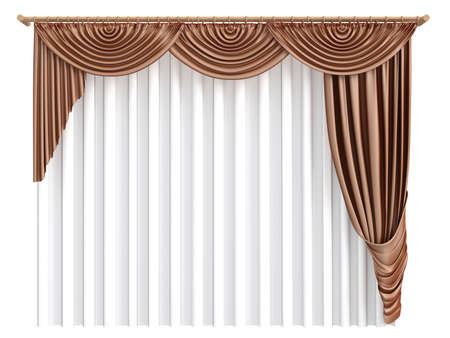 shades: Rendered 3d isolated curtains