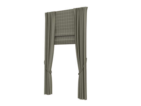 Rendered 3d isolated curtains photo