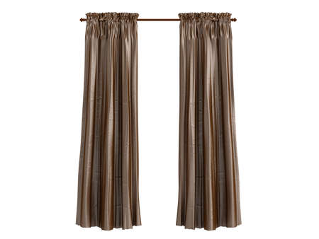 window curtains: Rendered 3d isolated curtains
