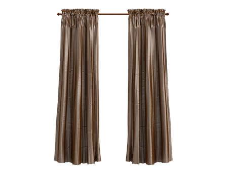 curtain design: Rendering 3d isolate tende Archivio Fotografico