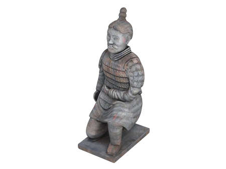 antiquary: Rendered 3d isolated statuette on white background