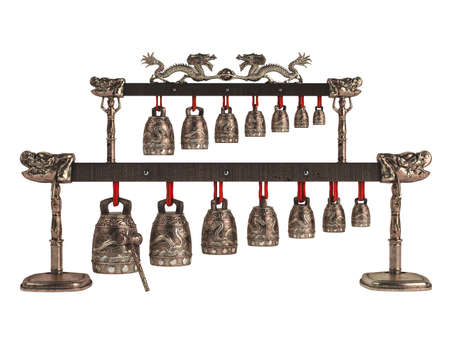 Rendered 3d isolated asian bells on white background photo