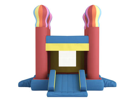 Rendered 3d isolated inflatable castle on white background Stock Photo - 9159015