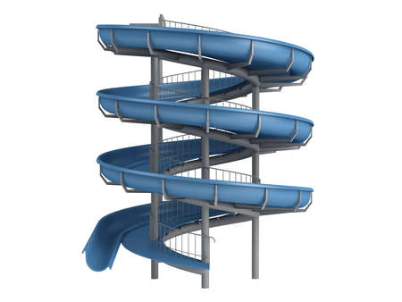 slide: Rendered 3d isolated waterslide on white background Stock Photo