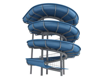 water chute: Rendered 3d isolated waterslide on white background Stock Photo