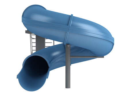 health resort: Rendered 3d isolated waterslide on white background Stock Photo