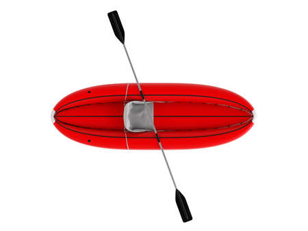 inflate boat: Rendered 3d isolated inflatable boat on white background