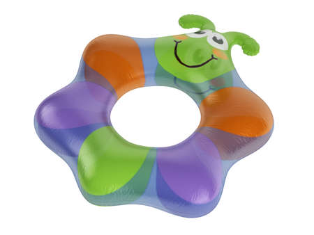 Rendered 3d isolated inflatable toy on white background