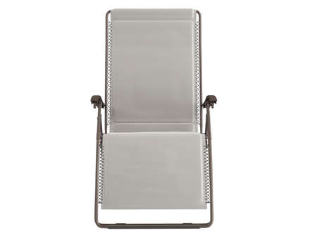 chaise: Metal chaise lounge isolated on white background Stock Photo