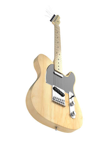 telecaster: Electric guitar isolated on white background