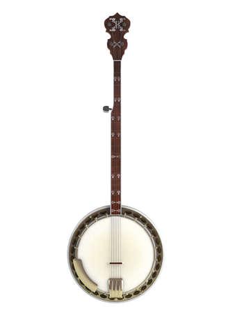 Banjo isolated on white background Stock Photo