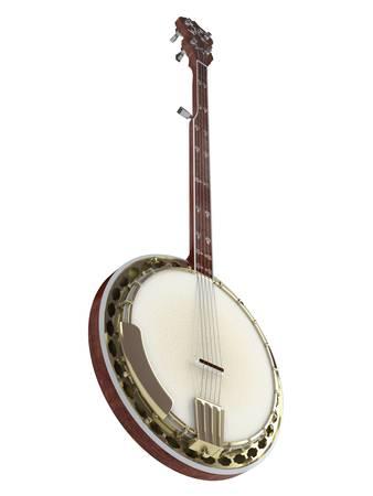 Banjo isolated on white background photo