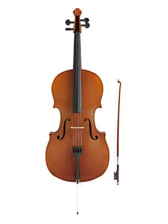 Cello isolated on white background