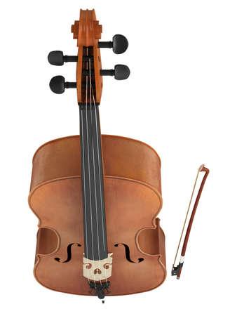 Cello isolated on white background photo