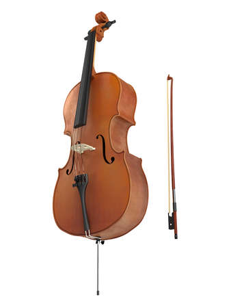 violoncello: Cello isolated on white background
