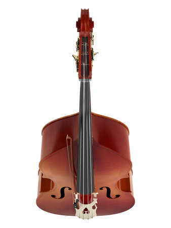 contrabass: Double bass or string bass, upright bass, standup bass or contrabass isolated on white background