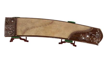 Guzheng isolated on white background Stock Photo - 9579539