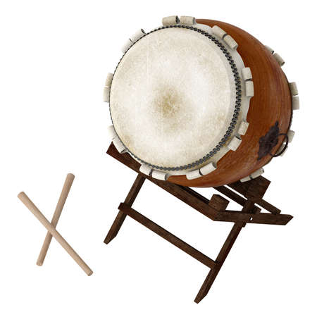 vibration: Taiko isolated on white background