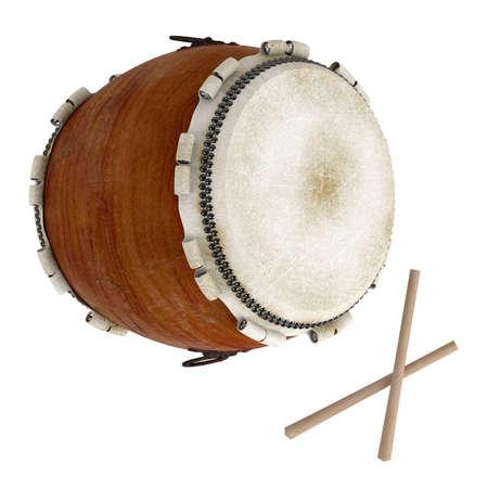 drum sticks: Taiko isolated on white background