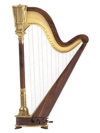 instrument: Harp isolated on white background