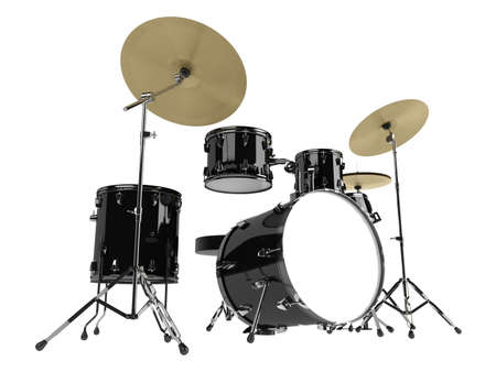 chrome base: Drum kit isolato su sfondo bianco