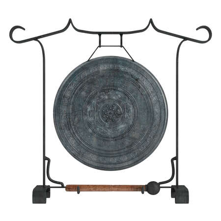 Gong isolated on white background Stock Photo - 9617647