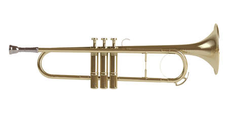 blare: Trumpet isolated on white background