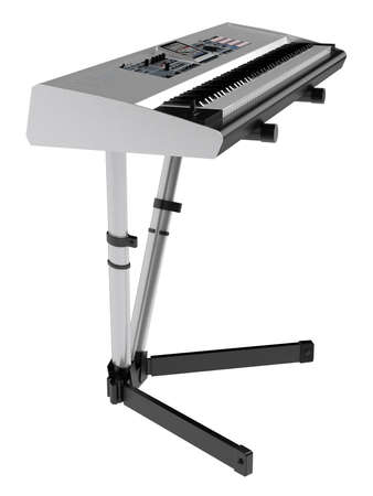 synthesizer: Synthesizer isolated on white background
