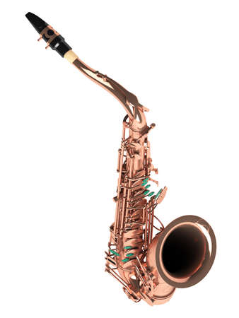 tenor: Tenor saxophone isolated on white background