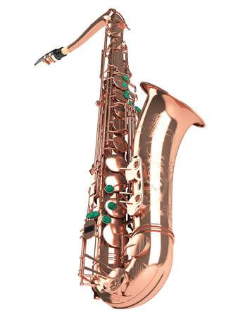 Tenor saxophone isolated on white background photo