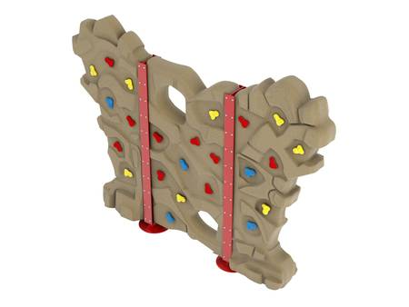 climbing wall: Climbing wall isolated on white background