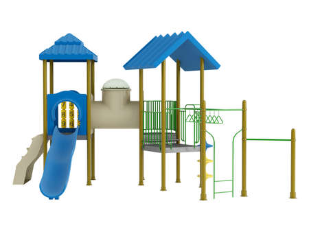 Playground isolated on white background photo