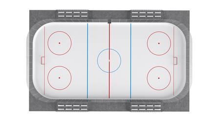 Hockey field isolated on white background photo