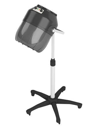 Stand salon hair dryer isolated on white background photo