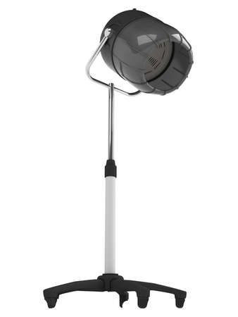 facial steamer: Stand salon hair dryer isolated on white background