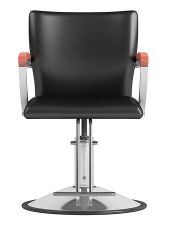 fodrászat: Fekete fodrász szalon szék elszigetelt fehér háttér