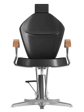 hair styling: Black hairdressing salon chair isolated on white background